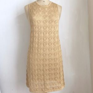 Free People shimmery Tan dress NWOT $198 size:M